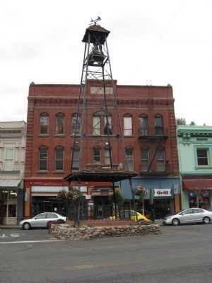 Placerville Bell Tower - Masonic Hall in Background image. Click for full size.
