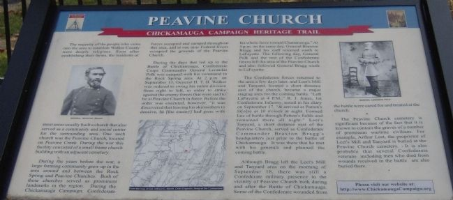 Peavine Church Marker image. Click for full size.