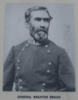 Peavine Church Marker-Gen. Braxton Bragg image. Click for full size.
