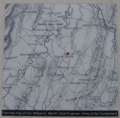 Peavine Church Marker-Map image. Click for full size.