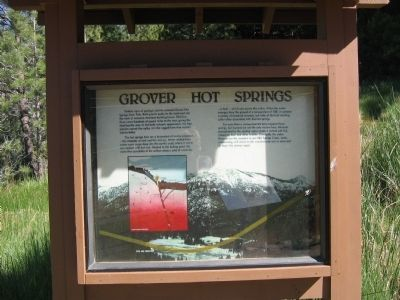 Grover Hot Springs Marker image. Click for full size.