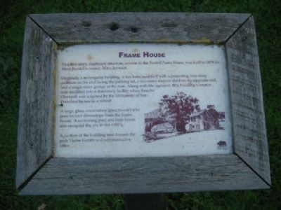 Burdell Frame House Marker image. Click for full size.