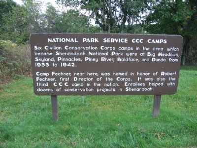 National Park Service CCC Camps Marker image. Click for full size.