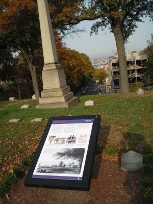 Marker in Green-Wood Cemetery image. Click for full size.