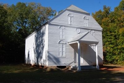 "St. John's Church, 3rd Building - Known as the ""White Church"" image. Click for full size."