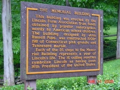 The Memorial Building Marker image. Click for full size.