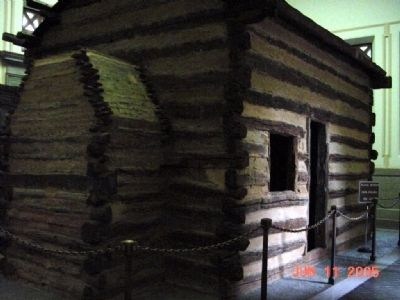 Model of Lincoln's Birthplace image. Click for full size.