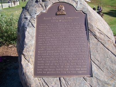 Annie McGann Cumpston Marker image. Click for full size.