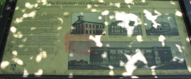 "The Evolution of Gettysburg's ""Common School"" Marker image. Click for full size."