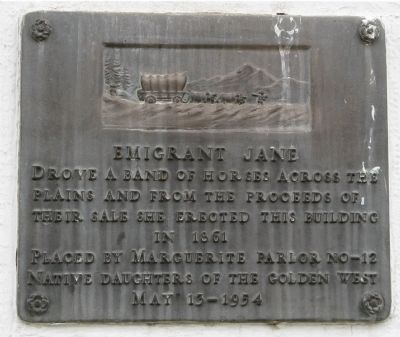 Emigrant Jane Marker image. Click for full size.