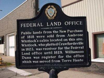 View looking West - - Federal Land Office Marker image. Click for full size.