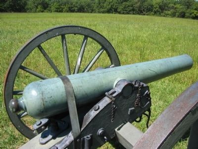 Confederate 6-pdr Gun image. Click for full size.