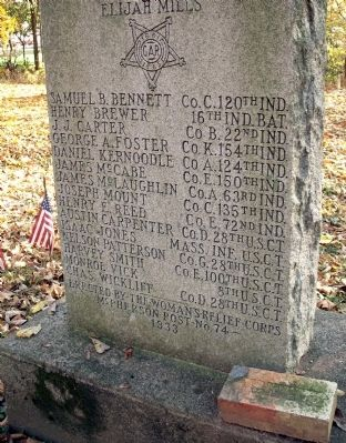 Lower Section of  Marker image. Click for full size.