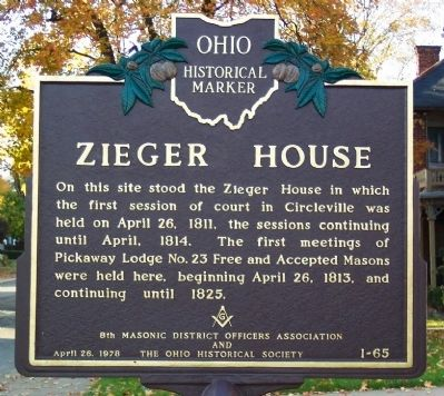 Zieger House Marker image. Click for full size.