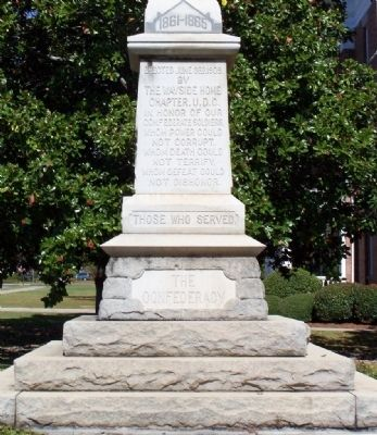 Jenkins County Confederate Memorial, South Face image. Click for full size.