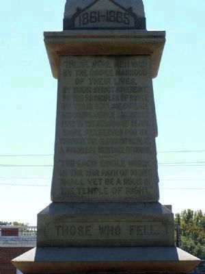 Jenkins County Confederate Memorial , North Face image. Click for full size.