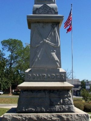 Jenkins County Confederate Memorial , west face image. Click for full size.