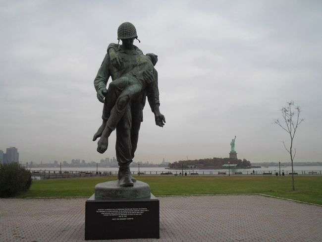 Marker in Liberty State Park image. Click for full size.