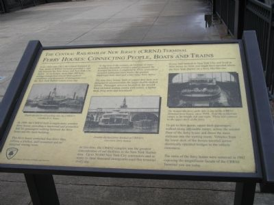 The Central Railroad of New Jersey (CRRNJ) Terminal Marker image. Click for full size.