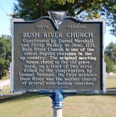 Bush River Church Marker image. Click for full size.