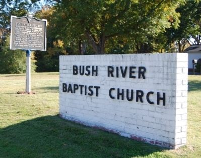 Bush River Church Sign and Marker image. Click for full size.