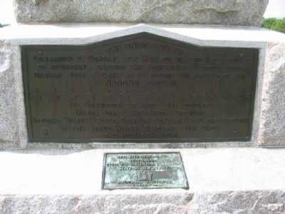 Lower Plaque and First Re-Dedication Plaque image. Click for full size.