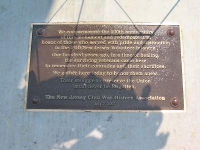 Second Re-Dedication Plaque image. Click for full size.