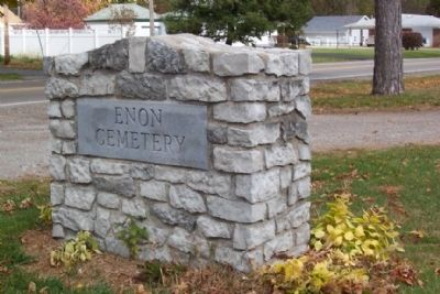 Enon Cemetery Entrance Marker image. Click for full size.