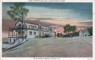 Blue Ridge Terrace, Afton, Va. image. Click for full size.