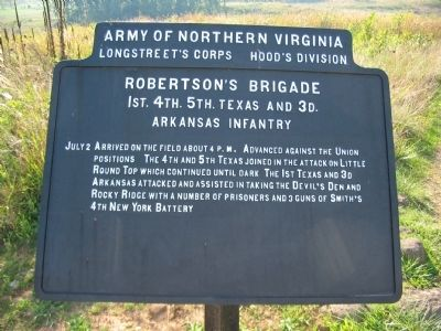 Robertson's Brigade Tablet image. Click for full size.