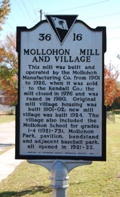 Mollohon Mill and Village Marker image. Click for full size.