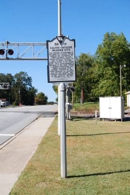 Calvin Crozier Murder Site Marker - Front, Looking Northwest image. Click for full size.