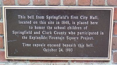 City Hall Bell Marker image. Click for full size.