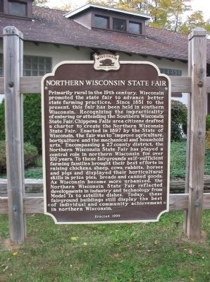 Northern Wisconsin State Fair Marker image. Click for full size.