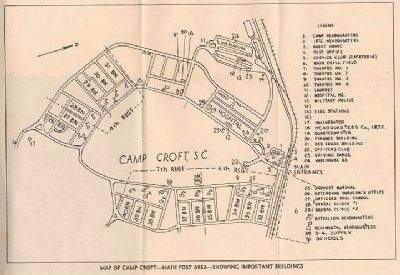 Camp Croft Map image. Click for full size.