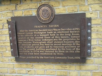 Fraunces Tavern Marker image. Click for full size.