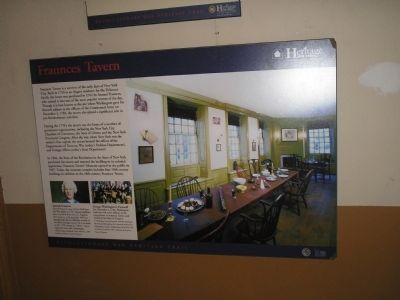Another Marker Inside Fraunces Tavern image. Click for full size.
