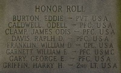 Korean War Marker - Left Honor Roll image. Click for full size.