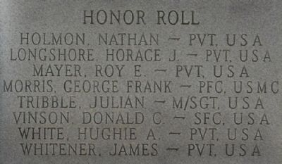 Korean War Marker - Right Honor Roll image. Click for full size.