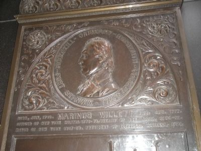 Top of Marinus Willett Marker image. Click for full size.