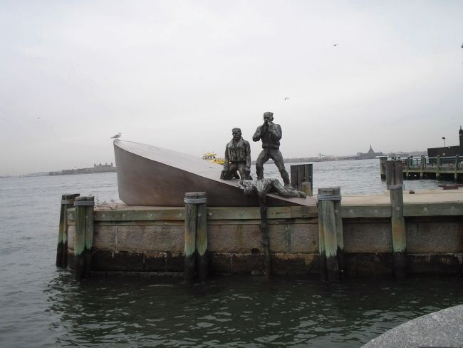 American Merchant Mariners' Memorial Marker image. Click for full size.