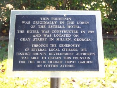 Millen Fountain Marker image. Click for full size.