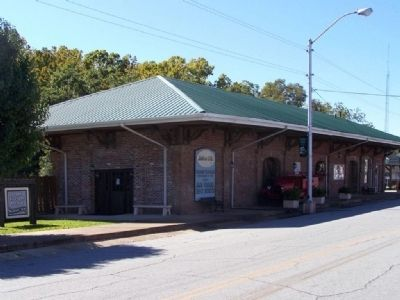 Olde Millen Freight Depot, whose park is mentioned on marker image. Click for full size.