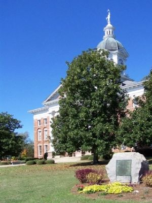 The Wayside Home Marker at the Jenkins County Courthouse image. Click for full size.