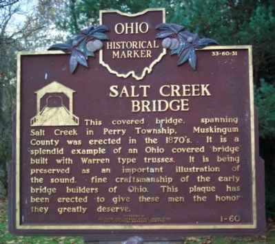 Salt Creek Bridge Marker (side A) image. Click for full size.