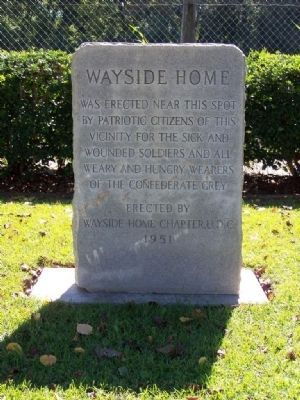 The Wayside Home Marker, marking the home's site image. Click for full size.