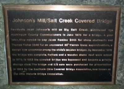 Johnson's Mill/Salt Creek Covered Bridge - west end of bridge image. Click for full size.