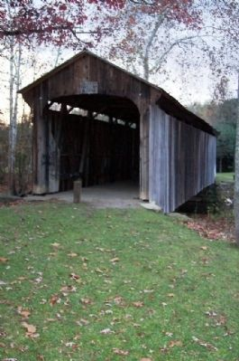 Salt Creek Bridge, east entrance image. Click for full size.
