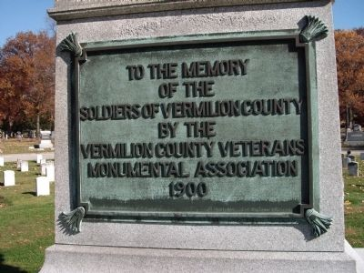 Soldiers of Vermilion County Illinois Marker image. Click for full size.