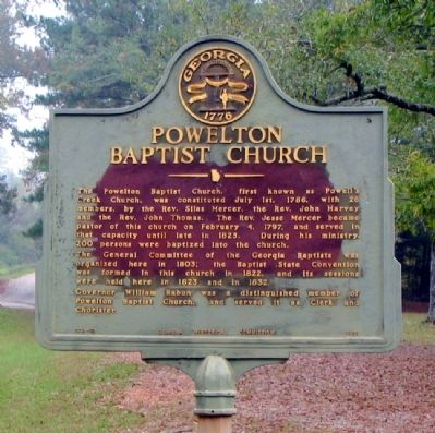 Powelton Baptist Church Marker image. Click for full size.
